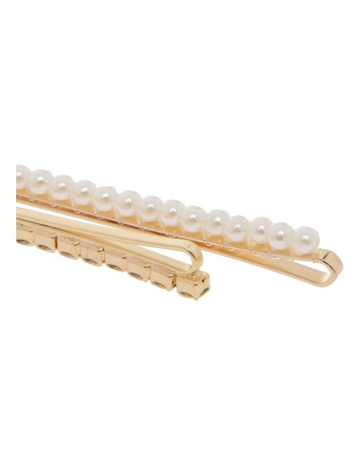 6 Pack Pearl And Diamante Slide Clip image 2