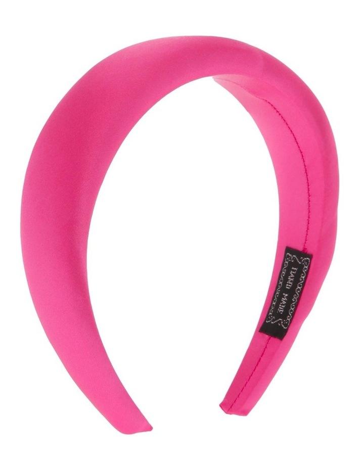 Padded Satin Headband in Hot Pink image 2