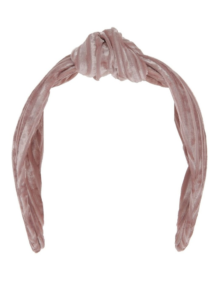 Velvet Corduroy Knot Headband in Blush Pink image 1