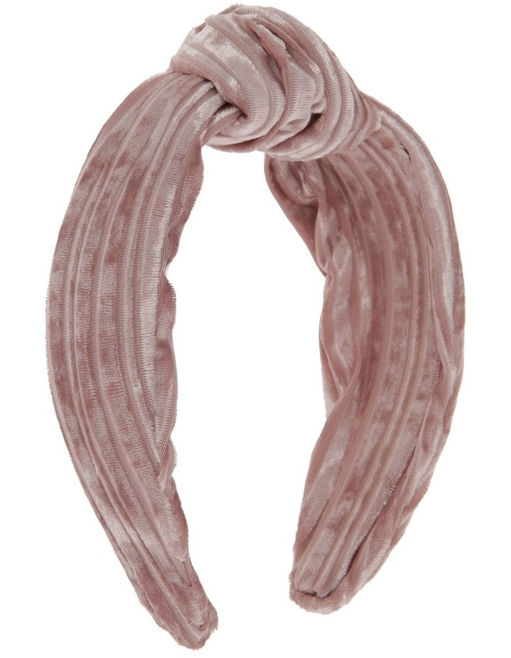 Velvet Corduroy Knot Headband in Blush Pink image 2