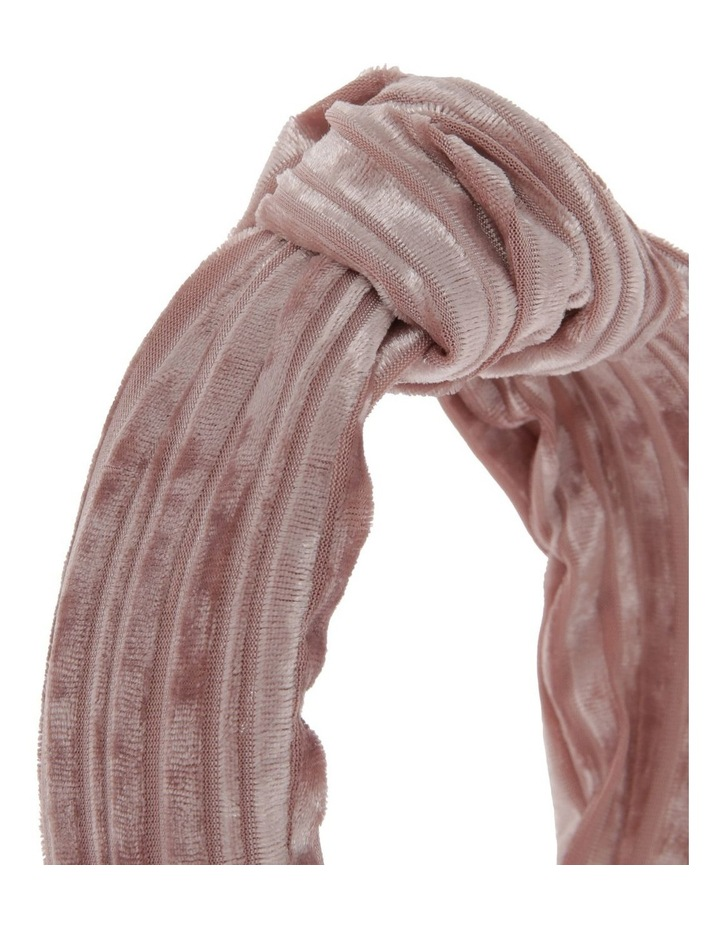 Velvet Corduroy Knot Headband in Blush Pink image 3