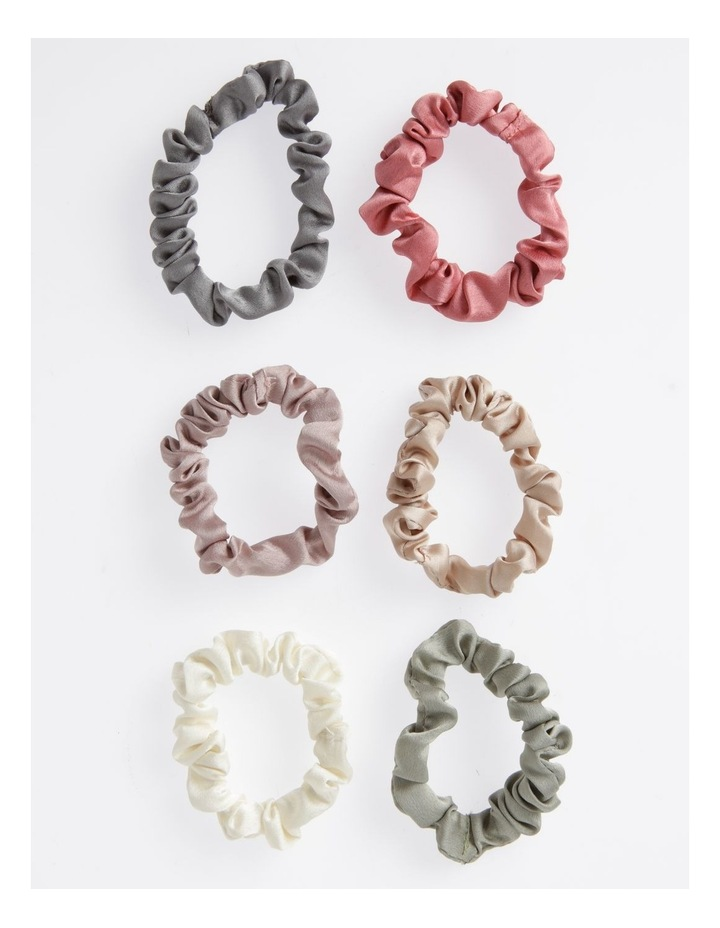 6 Pack Small Ruched Scrunchie image 1