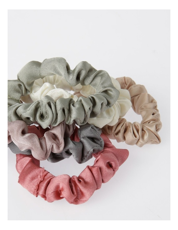 6 Pack Small Ruched Scrunchie image 2