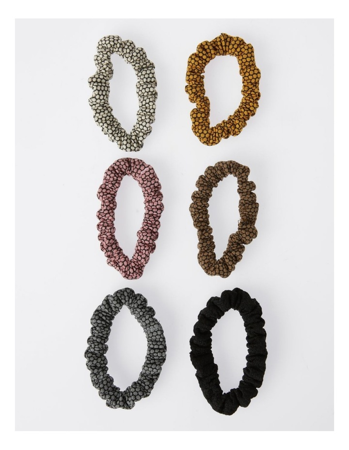 Small Spotty  Scrunchie 6Pk Hair Accessory image 1