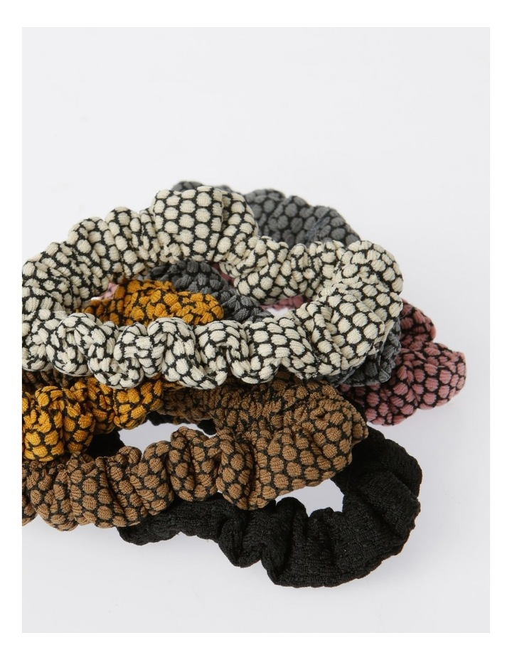 Small Spotty  Scrunchie 6Pk Hair Accessory image 2