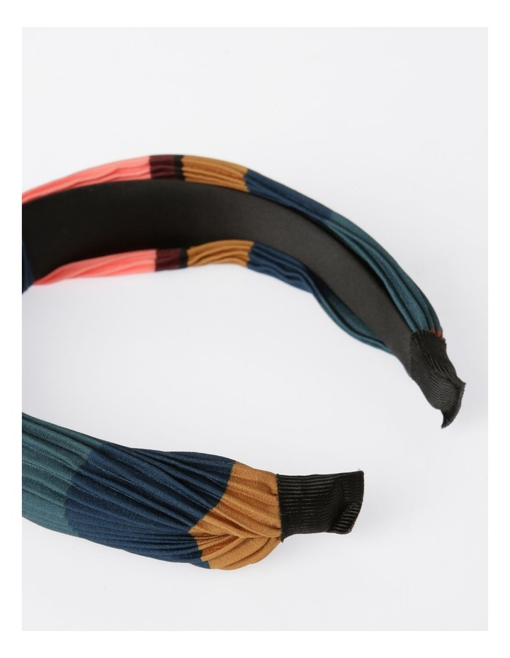 Colour-block Pleated Turban Headband Hair Accessory image 3