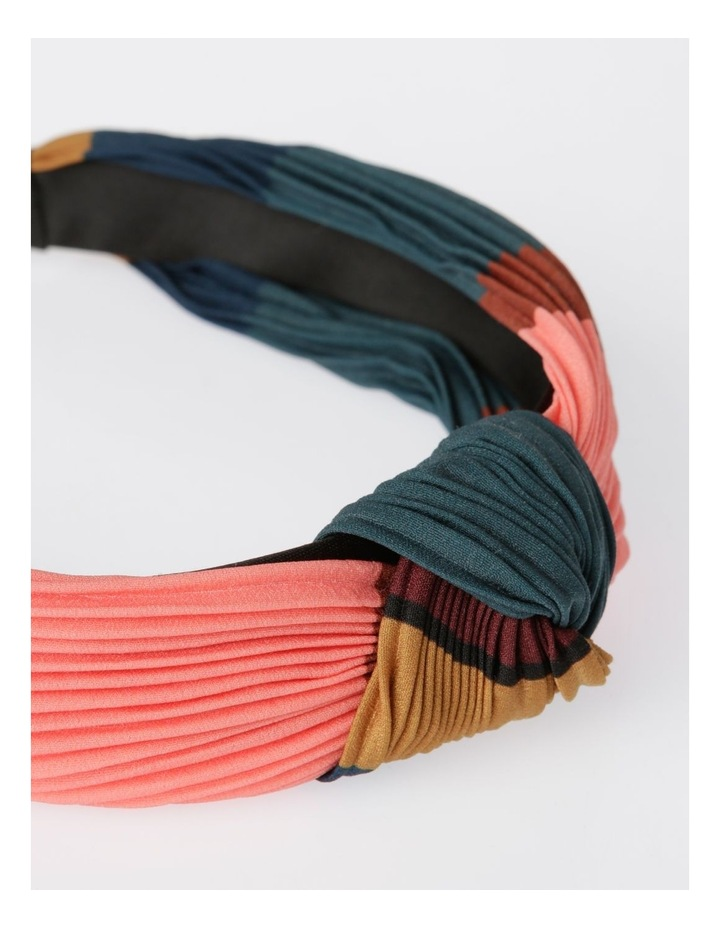Colour-block Pleated Turban Headband Hair Accessory image 4