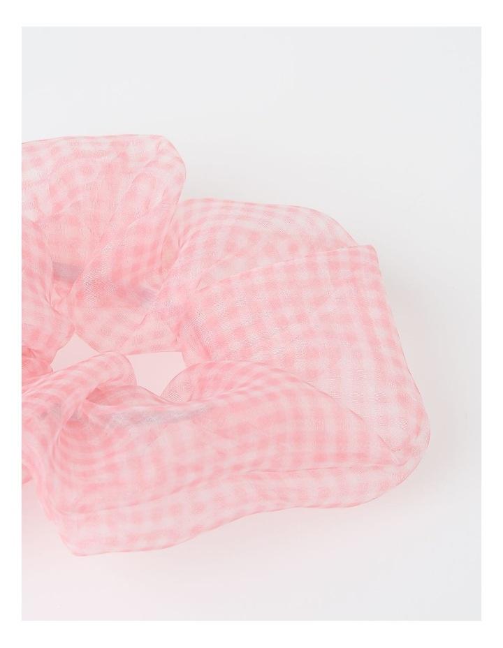 2 Pack Sheer Gingham Scrunchie Hair Accessory FBPT20376-031 image 3