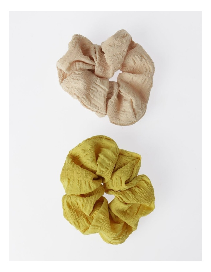 2Pk Embroidered Scrunchie Hair Accessory image 1
