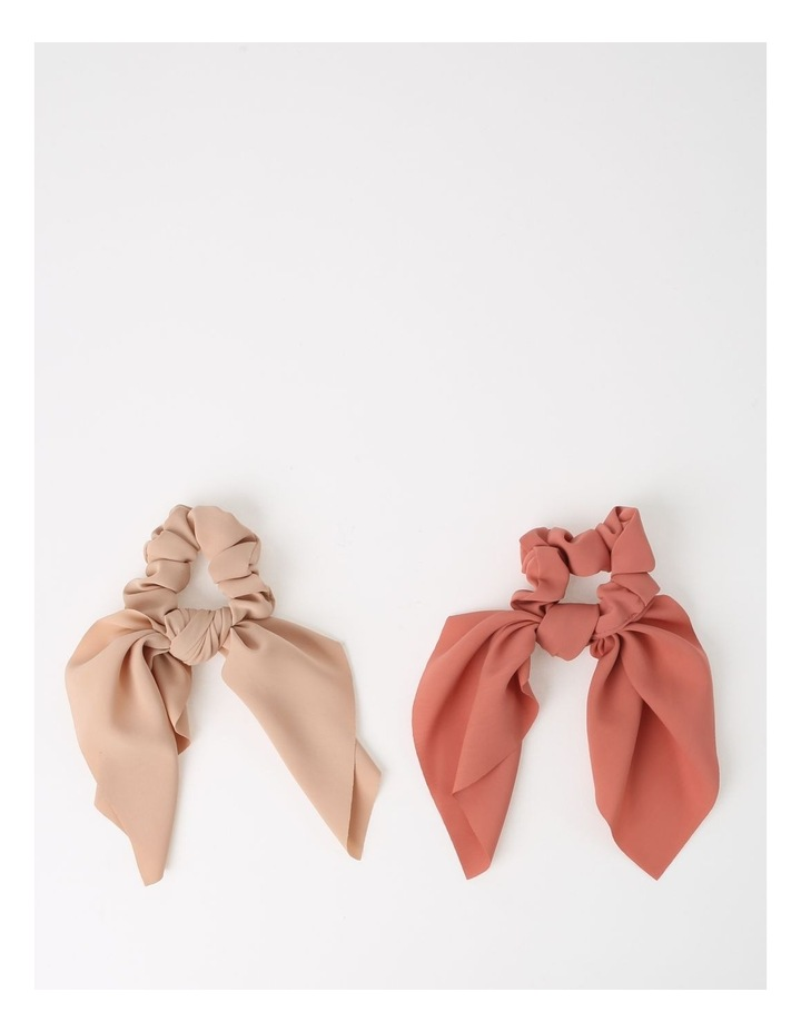 Pink Scrunchie With Short Tie 2 Piece Pack image 1