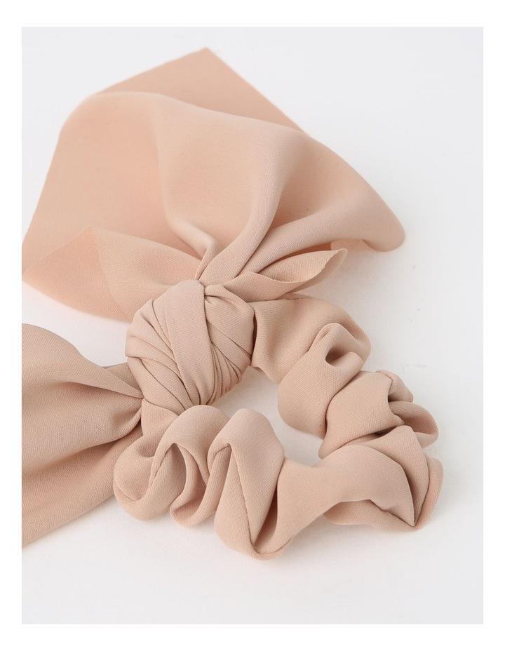 Pink Scrunchie With Short Tie 2 Piece Pack image 2