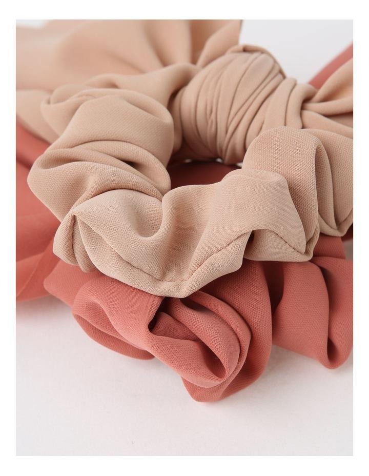 Pink Scrunchie With Short Tie 2 Piece Pack image 3