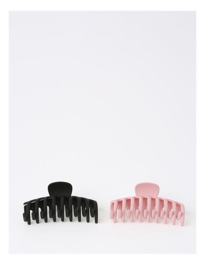 Matte Black/Pink Claw Clip 2 Piece Pack image 1