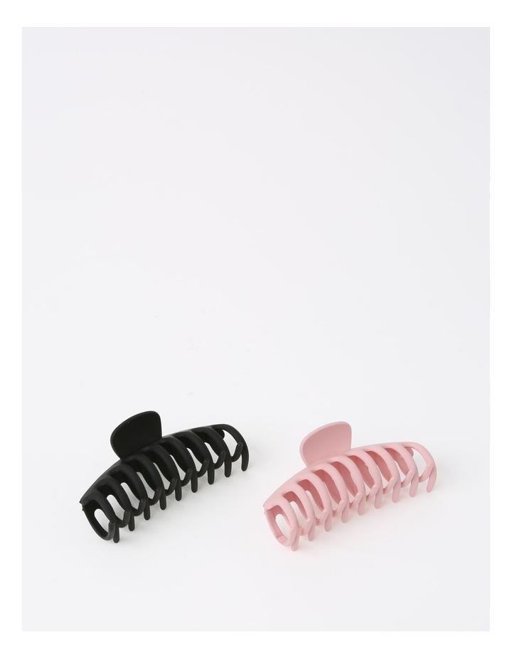 Matte Black/Pink Claw Clip 2 Piece Pack image 2