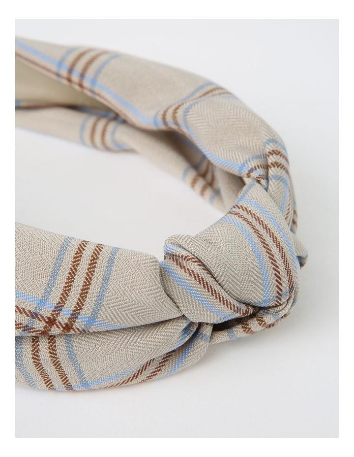 Top-Knot Beige Headband image 3