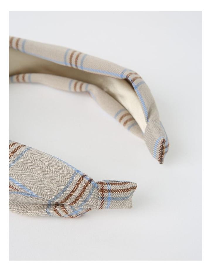 Top-Knot Beige Headband image 4