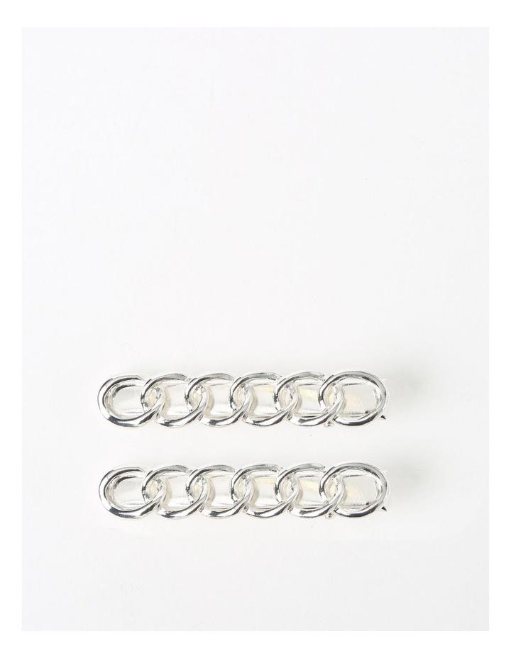 Silver Chain Hair Clip image 1