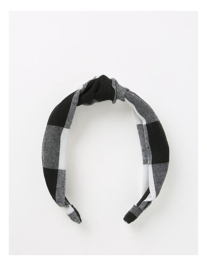 Gingham Turban Black/White Headband B79676S image 1
