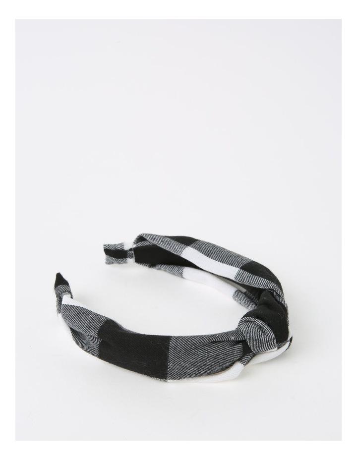 Gingham Turban Black/White Headband B79676S image 2
