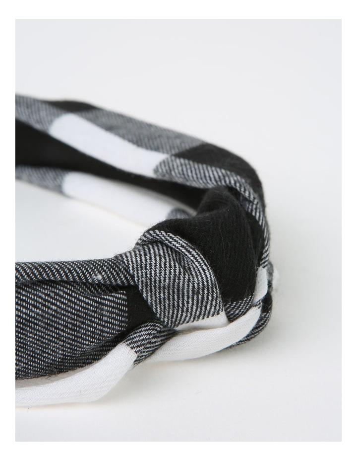 Gingham Turban Black/White Headband B79676S image 3
