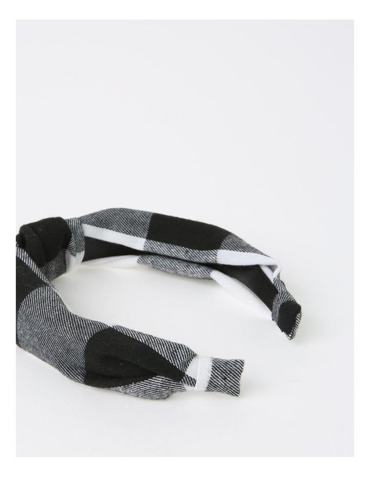Gingham Turban Black/White Headband B79676S image 4