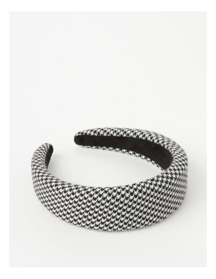 Houndstooth Padded Black/White Headband image 1