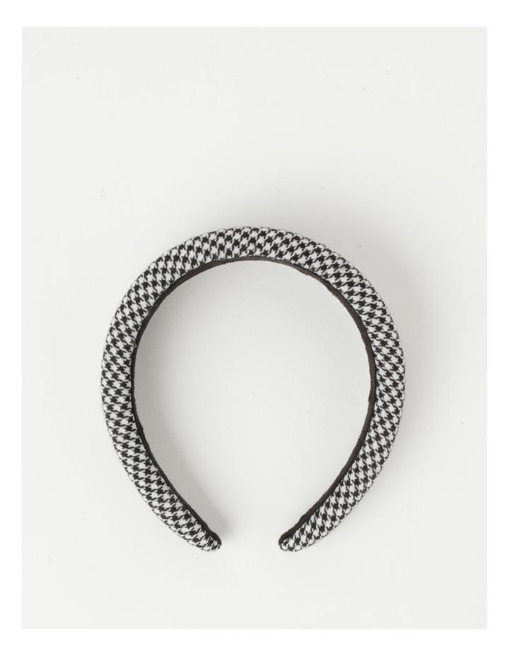 Houndstooth Padded Black/White Headband image 2