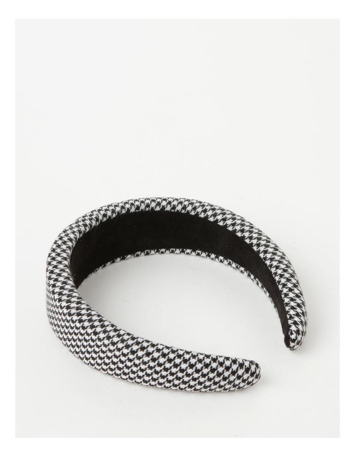 Houndstooth Padded Black/White Headband image 3