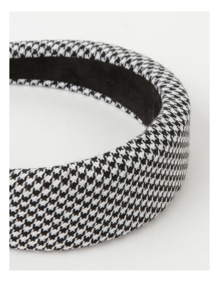 Houndstooth Padded Black/White Headband image 4