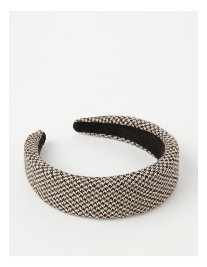 Houndstooth Padded Beige Headband image 1