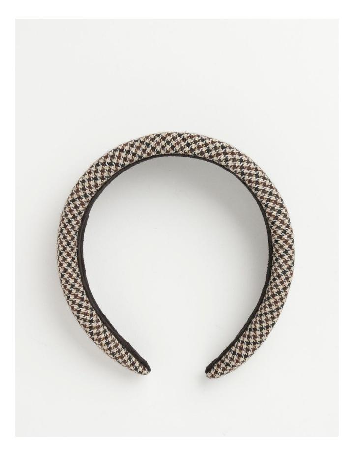 Houndstooth Padded Beige Headband image 2