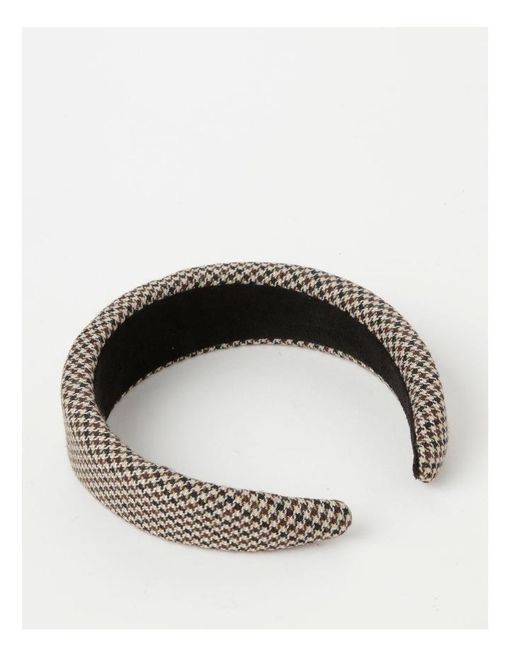 Houndstooth Padded Beige Headband image 3