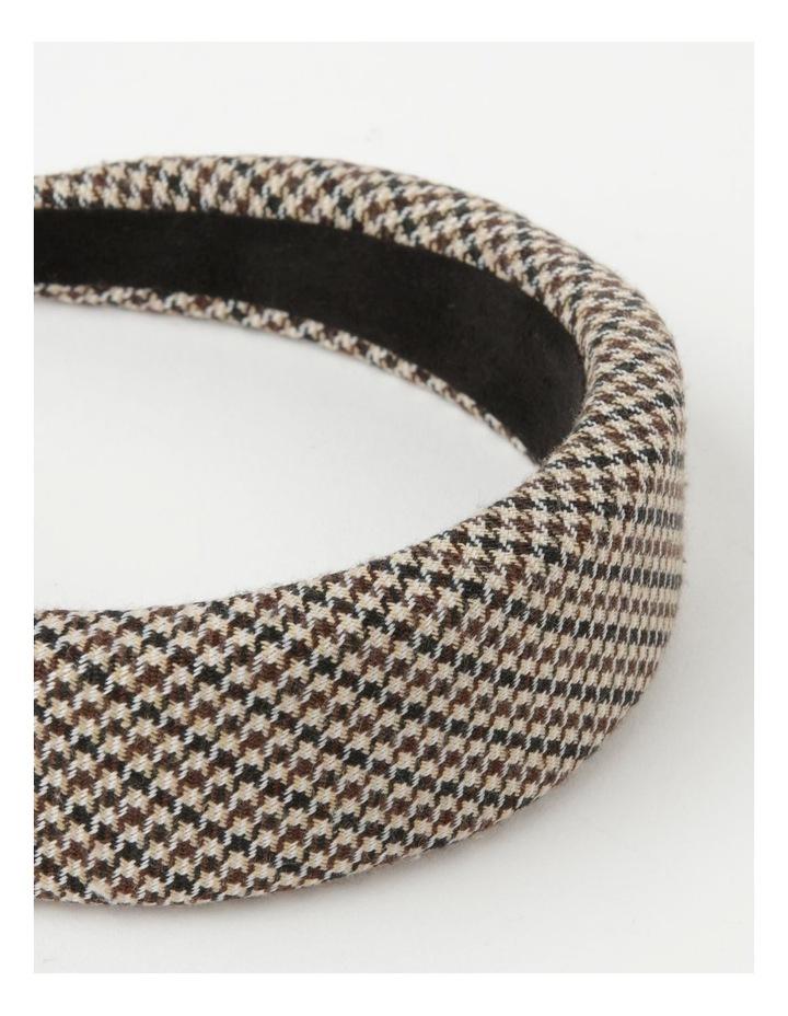 Houndstooth Padded Beige Headband image 4
