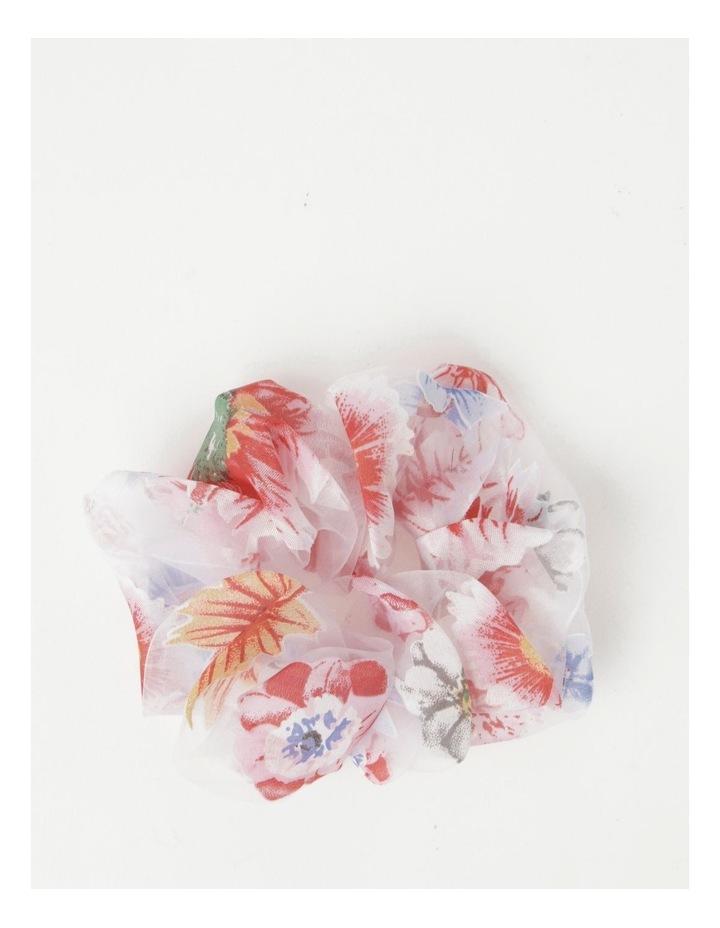Floral Sheer Scrunchie image 1