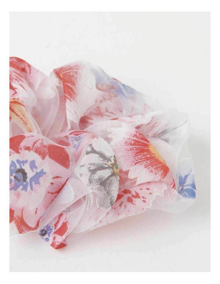 Floral Sheer Scrunchie image 2