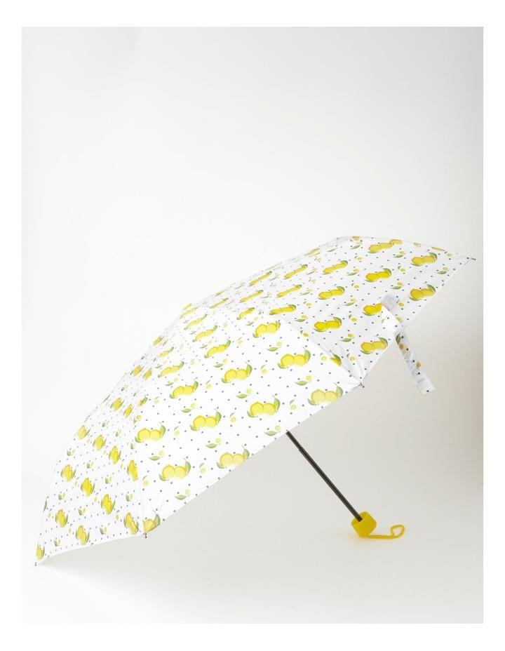 Lemon Print White Foldable Umbrella image 1