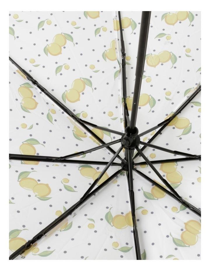 Lemon Print White Foldable Umbrella image 3