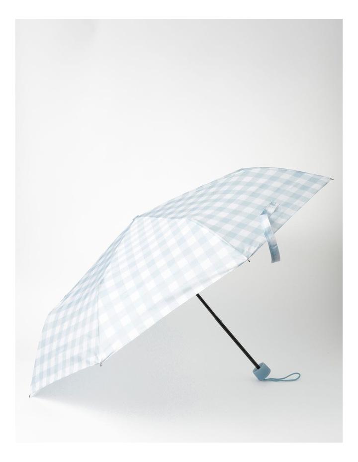 Blue Gingham Foldable Umbrella image 1