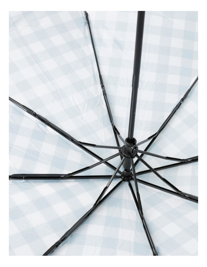 Blue Gingham Foldable Umbrella image 3