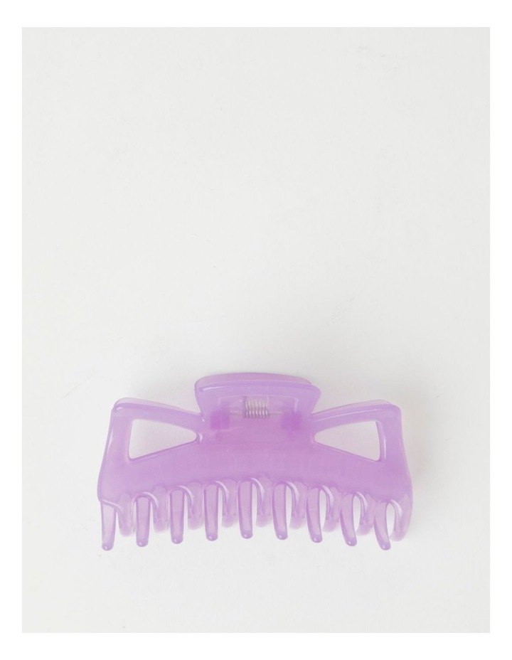 Large Traditional Purple Claw Clip image 1