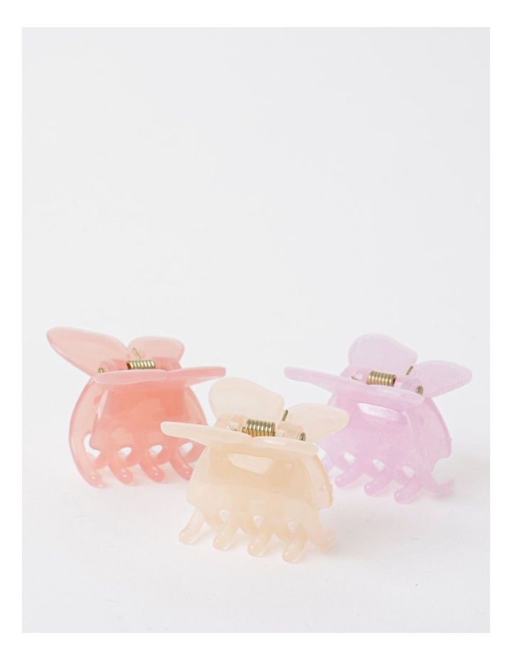 3 Pack Small Butterfly Clip Pink image 1