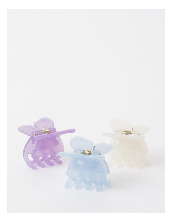 3 Pack Small Butterfly Clip Blue image 1