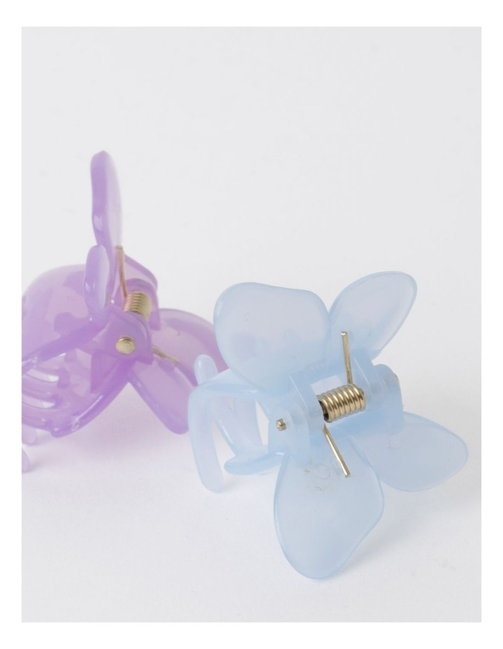 3 Pack Small Butterfly Clip Blue image 2