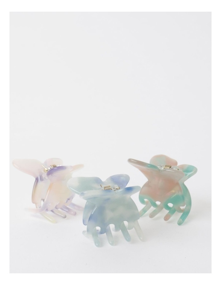 3 Pack Small Butterfly Clip Assorted image 1