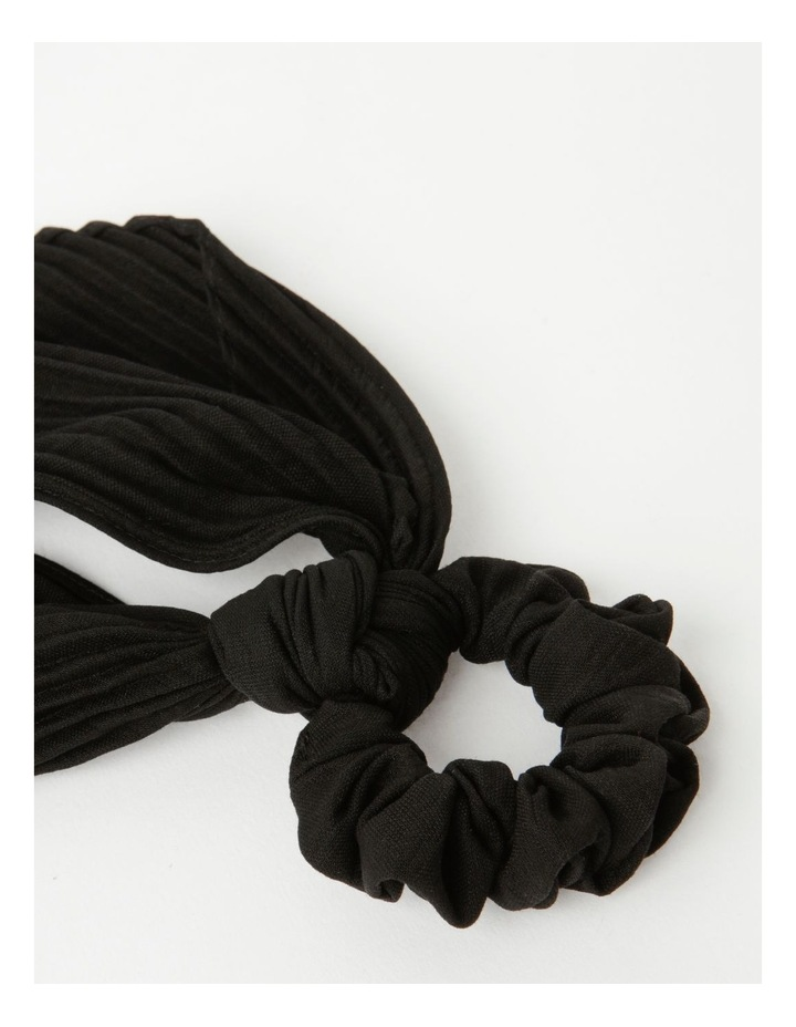 Pleated Scrunchie With Long Tie image 2