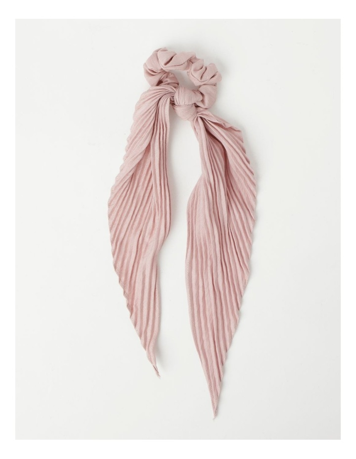 Pleated Scrunchie With Long Tie image 1