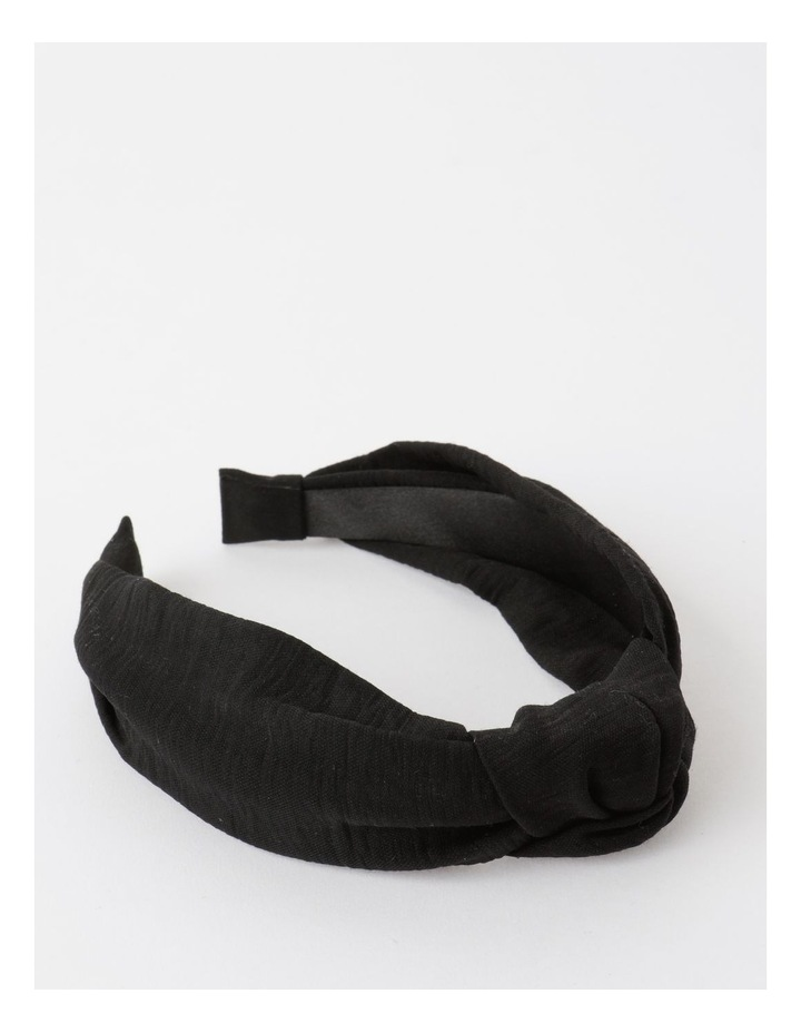 Knot Turban Black Headband image 1