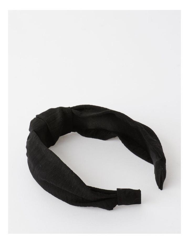 Knot Turban Black Headband image 4