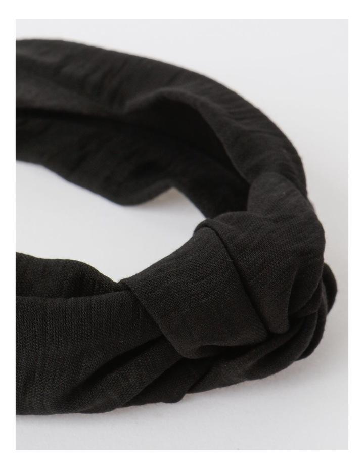 Knot Turban Black Headband image 5