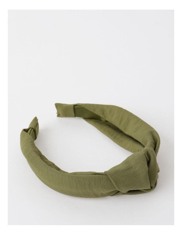 Knot Turban Khaki Headband image 1
